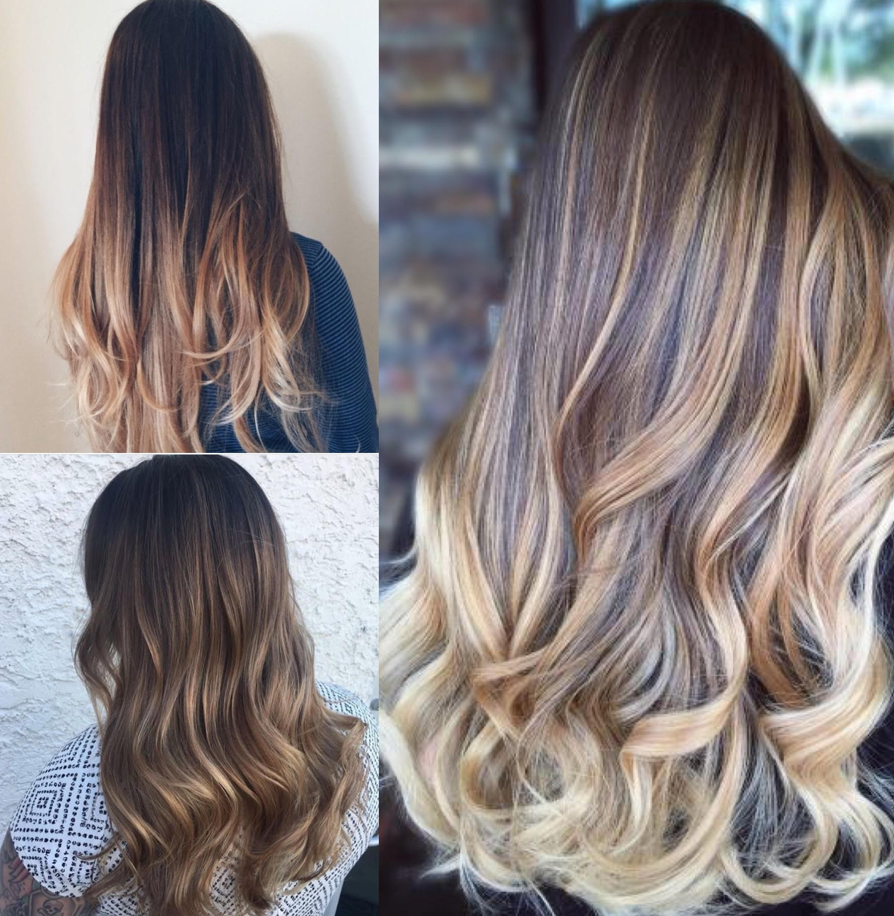 The Differences Between Color Melting Balayage And Ombre